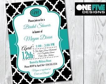 Quatrefoil Bridal Shower Invitation - Printable (5x7)