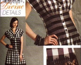 Vogue Sewing Pattern V8353 Misses' Dress  Size:  A  6-8-10  Uncut