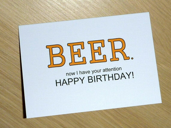 Male Happy Birthday card Beer or choose your own greeting – Customize Your Own Birthday Card