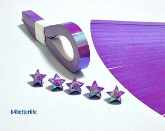200 Strips Purple Color Mini Size Lucky Stars Origami Paper Kits. 24.5cm x 1.0cm. (AV paper series). #SPK-126.