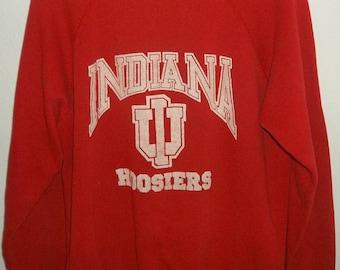 Vintage Indiana Hoosiers Raglan Style Sweatshirt /  IU Sweatshirt