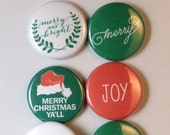 Christmas Scrapbook Flair Buttons for Project Life December Daily