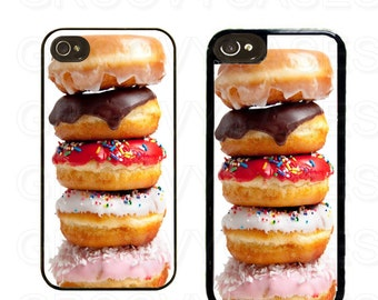 iPhone 4 4s 5 5s 5c SE Case Rubber Stack of Donuts
