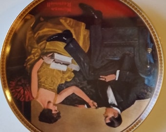 "Norman Rockwell, ""Flirting in The Parlor"", Collector Plate 1983"