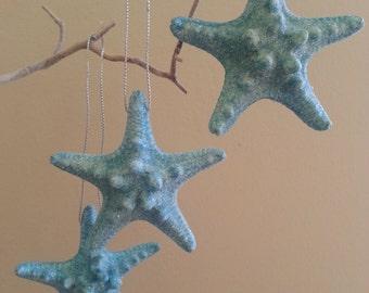 Beach Christmas Ornament (3+), Starfish Christmas Ornament, Seashell Christmas Ornament, Beach Decor, Shell Christmas Ornament