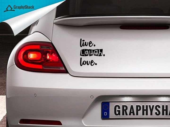 Live LAUGH Love CAR DECAL Window Decal  Sticker Vinyl - Vinyl decals for car body