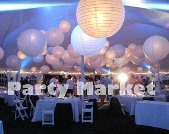 Diy lanterns etsy 24 pcs 6 8 10 12 16 18 white led junglespirit Images