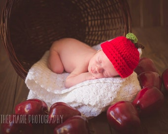 Newborn Apple Beanie - Fall Prop - Photography Prop