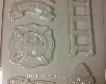 Fire Department Pieces Chocolate Mold