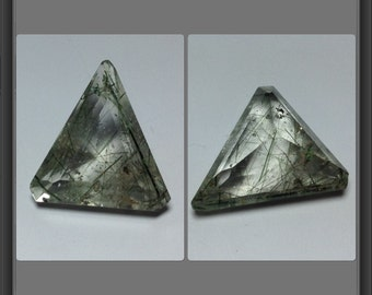 Quartz with Inclusion - faceted - 14ct