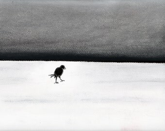 Sand Storming Crow Print from Original Drawing