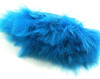 "Marabou  Feathers - Turquoise Marabou Feathers, 12"" in length attached to a satin ribbon. - ""Turquoise""  Feathers. Perfect  for your DIY ."