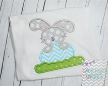Easter Bunny  Applique Design, Easter Bunny with Egg Machine Embroidery Applique, Easter Applique Design 4x4 5x7 6x10