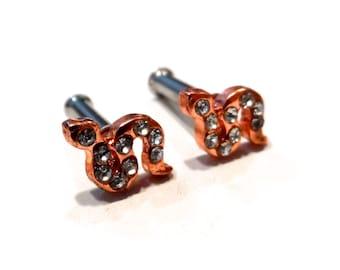 10g Snake Plug Earrings
