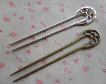 2 colors choice-5pcs Metal hair stick--157x33mm--MPC3393-5