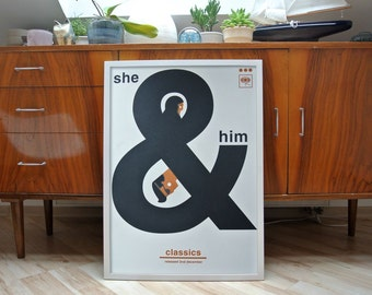 She & Him | A2 screenprint | limited edition of 40
