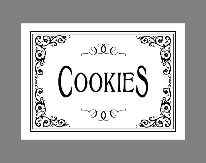 COOKIES - PRINTABLE Wedding sign  - Traditional Black Tie design - Black White Wedding