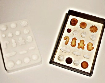 Miniature 1:12 Clay Mold - sweets,cakes