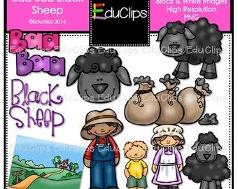 Baa Baa Black Sheep Nursery Rhyme Clip Art Bundle