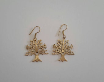 Beautiful handmade Tree of life earings made from brass