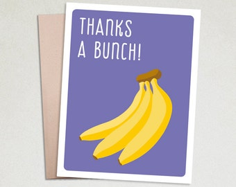 Thank you cards- Thank you cards funny- Thank you notes- Stationery cards- Greeting cards funny- Handmade Greeting Card- Thanks a bunch