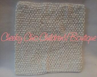 12x10 inch WHITE Crochet Tutu Dress Tube Top [CB12WH]