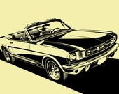 1965 Ford Mustang Convertible. Choose your Size, Material, Color, & Model Year Customization (1964 1/2, 1965, 1966)