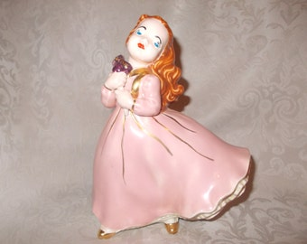 Vintage Porcellian Figurine In Flowing Stance