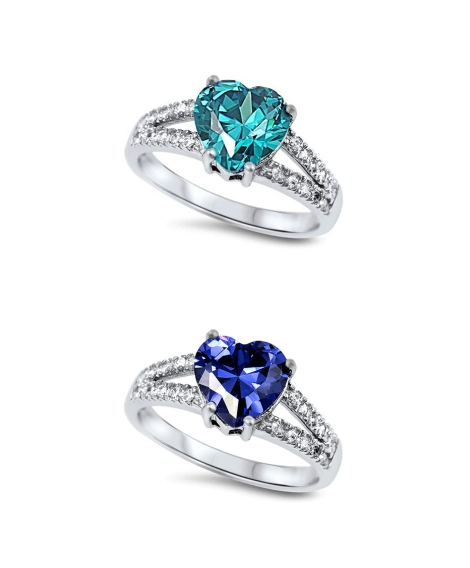 wedding promise ring 925 sterling silver 1 80ct tanzanite