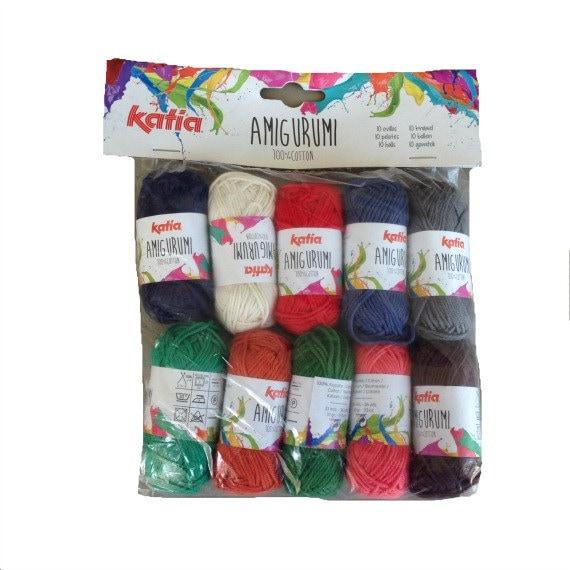 Amigurumi Yarn Pack : Amigurumi yarn mix 100 gr dark colours 100 % by Soulmadehome