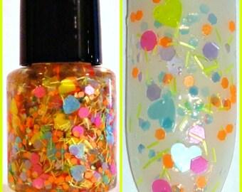 Unicorn Love ~ Indie Handmade Nail Polish 5-Free Custom Blended Dense Glitter Lacquer