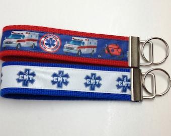 EMT Emergency Medical Technician Key Fob Wristlet Key Chain