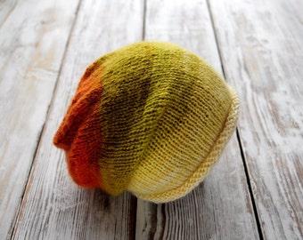 Newborn knit Hat. Hipster Hat. Photo prop Hat. Baby Hipster Hat.