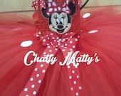 Red Minnie Mouse Tutu Dress!