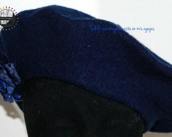 Dark blue beret