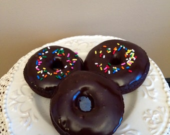 Home Made Dozen Chocolate Cake Like Doughnuts