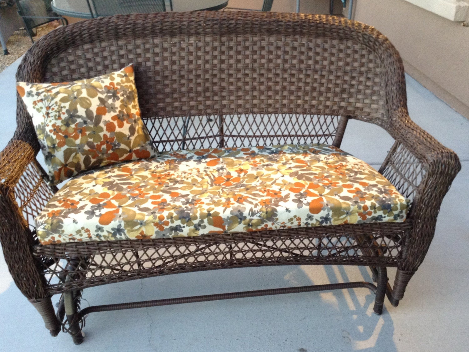 Outdoor patio furniture cushion covers by BrittaLeighDesigns