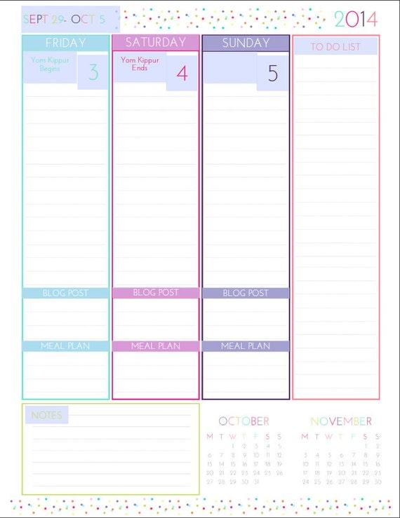 Daily Calendar Printable 2015 – Printable Editable Blank