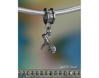Tiny Eagle Talon Charm or European Charm Bracelet .925 Sterling Silver