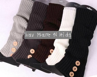 Adult Knit Button Down Leg warmers, Legwarmers,Women's Leg Warmer, Boot Socks