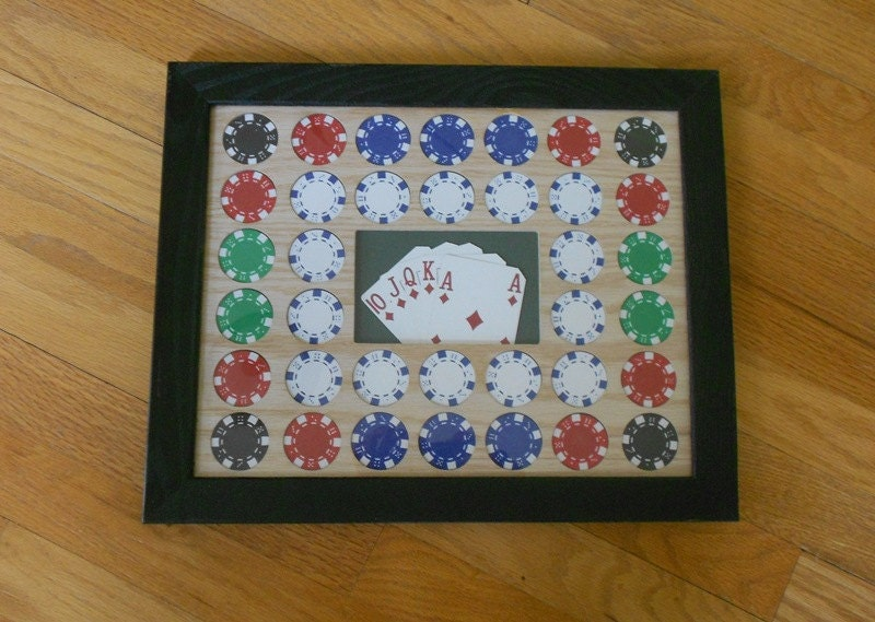 Casino Poker Chip Display Frame For Poker Chips By