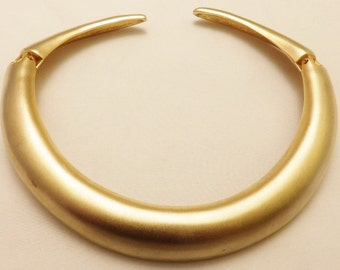 Gold  Hinged Collar Vintage Jewelry Gift Idea