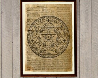 Occult decor Alchemy poster Magic circle poster WA251