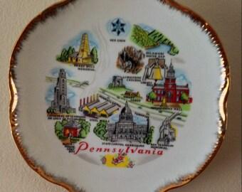Pennsylvania Souvenir Plate, Excellent Condition.