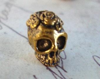 Tiny Skull Bead,Skull flower bead