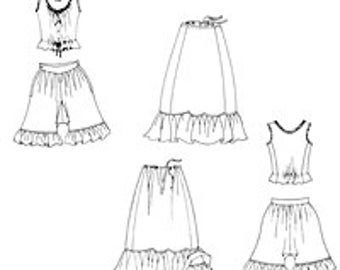 Edwardian Underthings  Sewing Pattern Misses Extra Small to 3XLarge