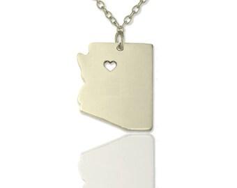 Arizona state necklace ,Arizona necklace , AZ state pendant