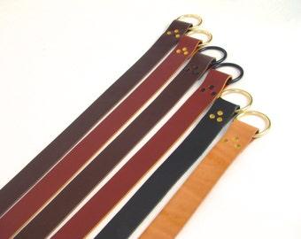 Ring Belt Renaissance Style Belt Leather Ring Belt