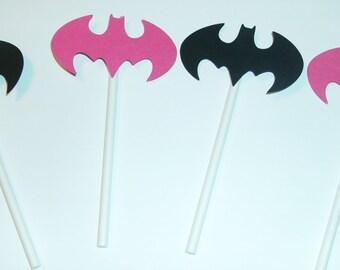Batgirl Cupcake toppers (232C)