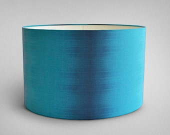 Ikat Drum Lampshade - Teal Ikat - By Ptolemy Mann